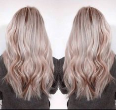 Blonde with rose gold lowlights