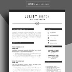 Professional resume template, Cv template, Resume cover letter, Resume for job…