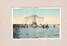 Vintage Postcard Sea Swing Cedar Point Amusement Park Lake Erie Sandusky Oh   eBay