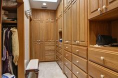 Walk-in closet with tons of storage