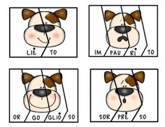 Puppy Emotions. (Italian Syllable Puzzles Literacy Centre) | TpT Italian Words, Cheese Muffins, Beginning Sounds, Little Games, Gluten Free Muffins, Syllable, Ham And Cheese, Literacy Centers, Pin Collection