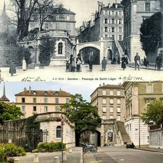 Rue Saint-Léger Avant 1903 -> 2016 Carte postale : communesgenevoise.ch #genève #geneve #geneva #rephotography Rue, Saint, Mansions, Studio, House Styles, Instagram Posts, Fancy Houses, Study, Mansion
