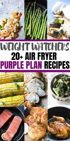 Weight watchers purple plan recipes for air fryer. Most with zero points! Weight watchers purple plan recipes for air fryer. Most with zero points! Weight Watcher Dinners, Plan Weight Watchers, Weight Watchers Salmon, Air Fryer Recipes Weight Watchers, Ww Recipes, Seafood Recipes, Chicken Recipes, Dinner Recipes, Cooking Recipes