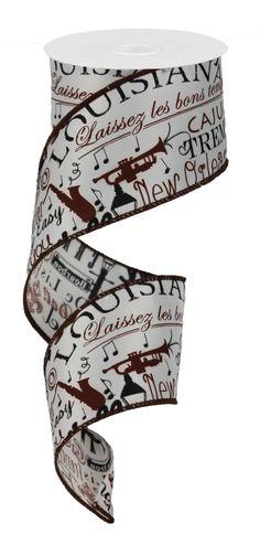 "2.5""X10YD LOUISIANA CULTURE - #louisiana  #craigbachman #ribbon #culture"