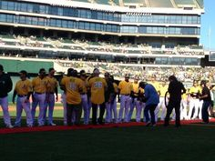 '72 Reunion celebration at the Oakland Coliseum on Saturday. The 2012 Oakland A's greeted the '72 team on the red carpet.