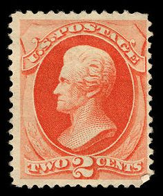 US Stamp 1879 - Andrew Jackson, 7th US President 1829-1837.  2-cent