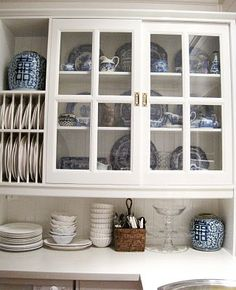 Love the blue and white display