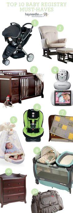 Top 10 baby must-haves.