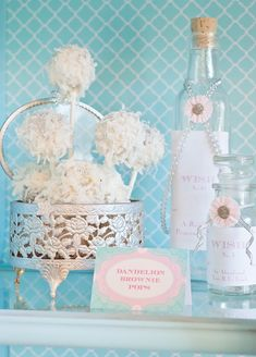 """While """"officially"""" called dandelion pops, these coconut brownie pops are perfect for a winter-themed party."""