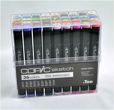 Copic 25th Anniversary Set with fine tip and super brush tip