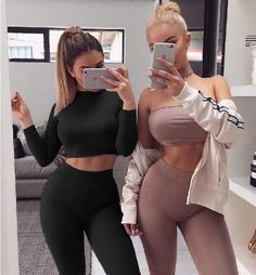 JOYINPARTY   Two Pieces Bodycon Jumpsuits For Women Overalls Long Sleeve Bodysuit Sexy Club Rompers And Jumpsuits