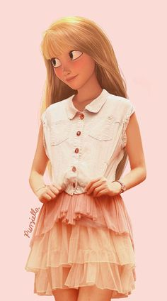 What Disney Princesses would look like if they were in high school...lots of cute looks