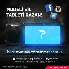 Twitter hesabımızdan(@HometechTR) tablet hediyeli yarışmamız başlamıştır!  Katılmak için; https://goo.gl/q26bxb