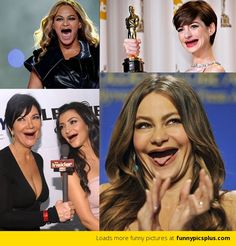 Celebrities Without Teeth. I laughed way too hard. They look like turtles.