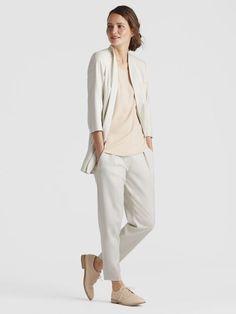 92fb281a8fb47 Eileen Fisher Bone Drapey Tencel Stretch Kimono Jacket Adidas Co, Kimono  Jacket, Vest Jacket
