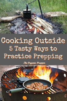 5 Tasty Ways to Cook Outside The Organic Prepper is part of Survival food list - Everyone knows that practice makes for perfect prepping But when is the last time you practiced your offgrid skills by cooking outside Survival Supplies, Survival Food, Homestead Survival, Wilderness Survival, Outdoor Survival, Survival Prepping, Survival Skills, Survival Hacks, Emergency Preparedness