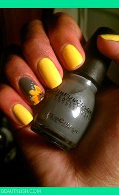 Sunflower nails   Monica M.'s Photo   Beautylish