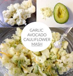 Garlic Avocado Cauliflower Mash