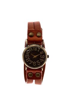 This bracelet cuff plus watch with antique brass face and buckle closure.   Leather Wrap Watch by Gemini Mermaids. Accessories - Jewelry - Watches Wisconsin