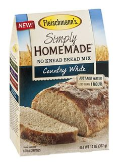 Fleishmanns Fleischmanns Simply Homemade No Knead Bread Mix Country White 14 OZ Pack of 18 ** Be sure to check out this awesome product.(This is an Amazon affiliate link and I receive a commission for the sales)