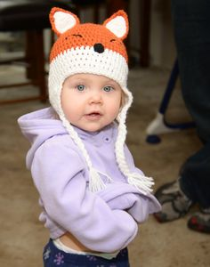 Crochet Fox Hat by MadebyMagissa on Etsy, $28.00
