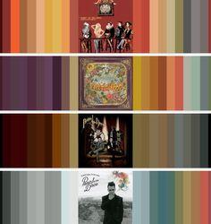 Panic! at the Disco Album Color Schemes