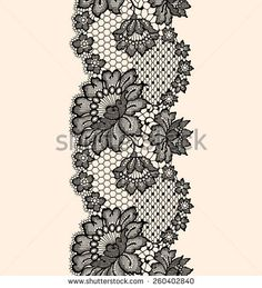 Find Lace Seamless Pattern Black Ribbon stock images in HD and millions of other royalty-free stock photos, illustrations and vectors in the Shutterstock collection. Crochet Stitches Patterns, Lace Patterns, Embroidery Patterns, Hand Embroidery, Machine Embroidery, Lace Tattoo Design, Lace Design, Paisley Background, Lace Drawing