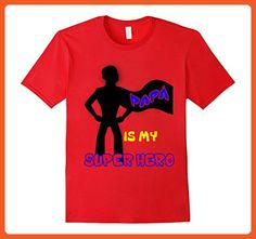 Mens PAPA IS MY SUPERHERO T-shirt Father's Day 3XL Red - Superheroes shirts (*Partner-Link)