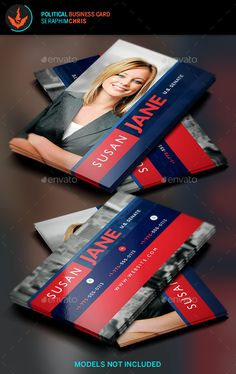 Jane Political Business Card Template 2 - #Corporate #Business #Cards