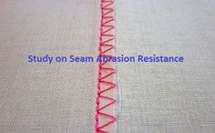 Study on seam abrasion resistance