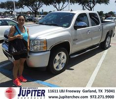 Thank you to Maria Ibarra on the 2013 Chevrolet Silverado from Erik Gonzalez and everyone at Jupiter Chevrolet!