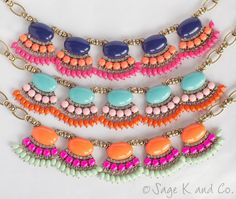 Fringe Statement Necklace.