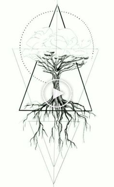 Geometric tattoo – tree, geometric, #tree #geometric #tattoo Geometric Tattoo Tree, Geometric Trees, Geometric Logo, Wrist Tattoos, Flower Tattoos, Unique Tattoos, Small Tattoos, Tree Of Life Logo, Tree Roots Tattoo
