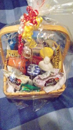 A gift basket i made for a co workers diabetic husband gift diabetic gift basket great gift for the newly diagnosed diabetic in the family or for negle Image collections