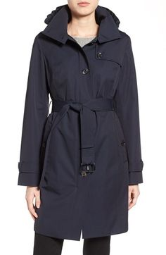 Hooded Trench Coat (Regular & Petite) image