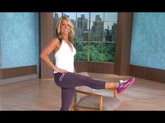 Denise Austin: Butt & Legs- Office Workout is a short, leg-sculpting, lower body-stretching series that is designed to develop lean muscle, slim the thighs, . Denise Austin, Office Exercise, Office Workouts, Upper Body Stretches, Total Body Toning, Chair Exercises, Ab Exercises, Easy Workouts, Fitness Workouts