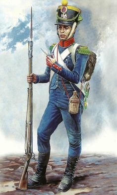 French Infanterie legere  (light infantry). These were the most nimble and best shots, and often served as skirmishers