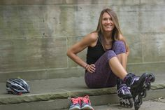 Kris Fondran is one of the most dedicated inline skate instructors on the planet. She started out on the ice and has been teaching a variety of skating disciplines for over 25 years! Roller Blading, Inline Skating, Skates, Posters, Training, Workout, Fitness, Work Out, Poster