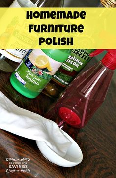 Homemade Furniture Polish is a very easy one to make with just a couple products that you probably already have in your house.