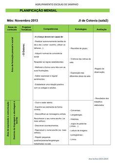 Planificação novembro by Diamantina Caeiro via slideshare