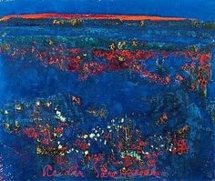 Fire Flowers (1974) - Reidar Särestöniemi Paintings I Love, Abstract Paintings, Oil Paintings, Fire Flower, Powerful Art, Environmental Art, Finland, Color Inspiration, Auction