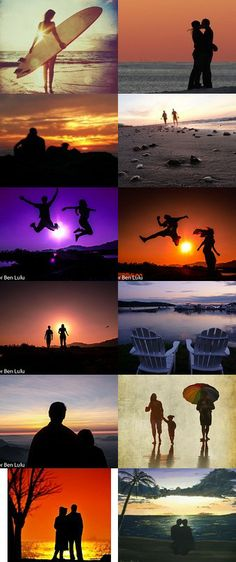People in the Sunset / Sunrise by Dor Ben Lulu on Etsy--Pinned with TreasuryPin.com