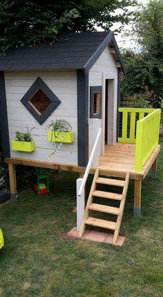 spielhaus garten - The Best Outdoor Play Area Ideas Backyard Playground, Backyard For Kids, Backyard Playhouse, Playhouse Plans, Playground Design, Kids Play Area, Play Areas, Garden Projects, Diy Projects
