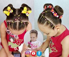 Each of these hairstyles represent fairly simple as well as are a great option for novices, fast and easy young one hair styles. Lil Girl Hairstyles, Easy Hairstyles For Kids, Ponytail Hairstyles, Trendy Hairstyles, Weave Hairstyles, Children Hairstyles, Simple Hairdos, Layered Hairstyles, Curly Hair Styles