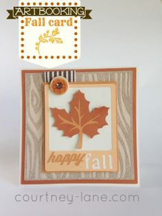 Cricut ARTBOOKING Fall card