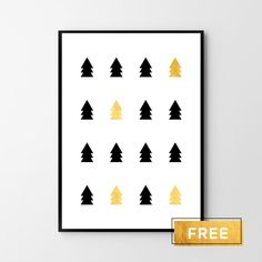 Free poster #christmas #freeposter #gold #tree