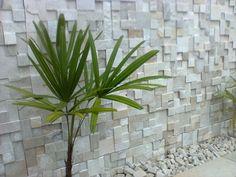 pared exterior con cubos de piedra natural