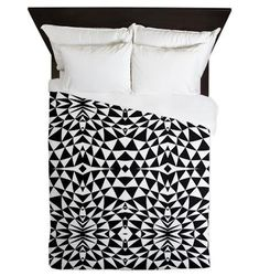 BLACKFRIDAY coupon code will give you free shipping today: Black And White Queen Duvet Cover  Mix 557  Ornaart by Ornaart