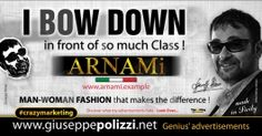 giuseppe polizzi I BOW DOWN crazy marketing genius  2017 #crazymarketing #giuseppepolizzi #down #class #style #fashion #difference #italy #phrasedown