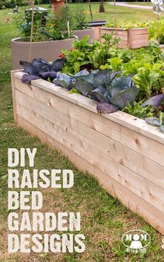 Raised bed gardens can save you loads of hours of digging out your yard, bring great garden design to your property, and give your family food to eat for a lifetime! Check out these 9 DIY Raised Bed Garden Designs, plus get a few ideas to made it all easier on you.